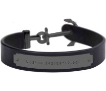 "Armband Signum Collection ""PH-MSC-B-B"" Leder/Edelstahl L"