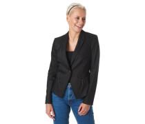 Blazer Ziernähte Reißverschluss-Taschen uni