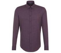 Business Hemd Slim Langarm Button-Down-Kragen Karo