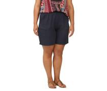 Bermuda-Shorts Leinen elastischer Bund Große Größen