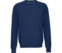 Cashmere-Pullover mit Rundhalsausschnitt