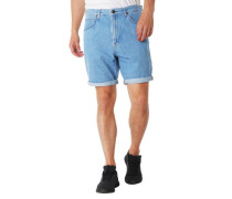 "Jeans-Shorts ""Pipes"" Relaxed Fit Label-Patch"