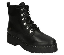 Boots, Glattleder, Nieten, Zugband, Reißverschluss-Option