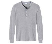 "Shirt ""Revival Karl-Heinz"", Langarm, meliert"