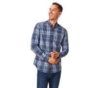 Freizeithemd Karo-Muster Brusttasche Baumwolle
