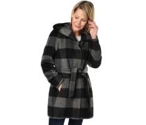 Mantel mit Wollanteil /grau