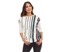 Shirt 3/4-Arm Rundhalsausschnitt gestreift