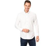 Hemd, Button-Down-Kragen, gemusterte Einsätze, für Herren, 3XL