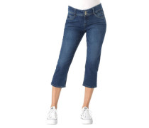 "Jeans ""Shape Capri"" Capri-Länge Slim Fit Herz-Stickerei"