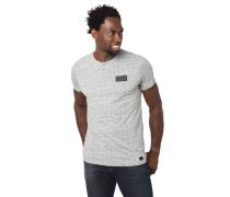 T-Shirt reine Baumwolle Rundhalsausschnitt geometrisches Muster