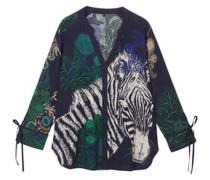 Bluse mit Zebra-Print, /grün, L