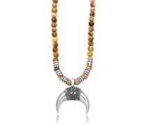 Halskette Halbmond Achat Jasper Look 5er Silber
