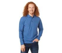 Polo-Shirt, reine Baumwolle, Brusttasche, meliert