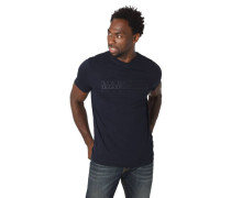 """T-Shirt """"Serber"""" Marken-Stickerei Rippblende"""