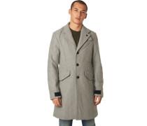 Mantel, meliert, asymmetrische Taschen, für Herren, hell, L