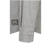 Casual-Hemd regular fit Langarm Covered-Button-Down-Kragen Uni mel.