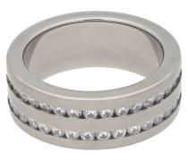 Titan Ring, poliert, Zirkonia-Steine, für Damen