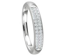 Ring 375  mit 26 Diamanten, zus. ca. 0,25 ct.