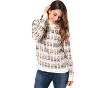 Pullover, Rollkragen, Jacquard-Muster, für Damen, off-