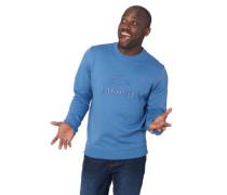 Sweatshirt, Logo-Stickerei, Ripp-Bündchen, Baumwolle