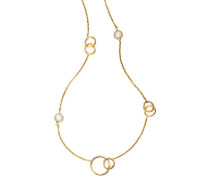 "Collier ""Doppelringe"", Gold 375"