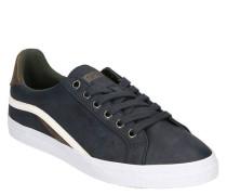 Sneaker Lederimitat Marken-Prägung Streifen-Detail