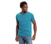 T-Shirt Bio-Baumwolle meliert Rundhalsausschnitt