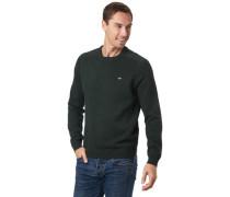 Baumwoll-Pullover, dunkelgrün, XL