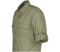 Casual-Hemd regular fit Langarm Button-Down-Kragen Uni light Core M