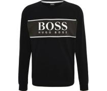 Sweatshirt, Rundhals-Ausschnittogo vorn, Kontrastfarbe, feine Rippbündchen,