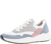 Sneaker, lowaterialmix Leder, Schnürung,
