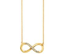 Collier 925/-Sterling Silber vergoldet Topas Infinity