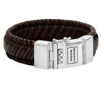 "Armband ""Edwin"" Leder multicolor Silberschließe"