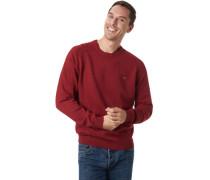 Baumwoll-Pullover, dunkelrot, XL