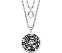 Damen-Halskette mit Swarovski® Kristallen, Edelstahl 2018567