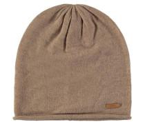 Mütze Kaschmir Wolle Logo-Patch Strick