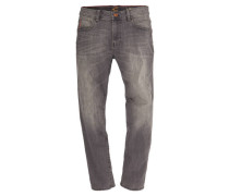 "Jeans ""Houston"" Straight Fit verwaschene Optik elastisch"