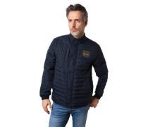 Jacke gesteppt Marken-Patches Stehkragen wasserabweisend