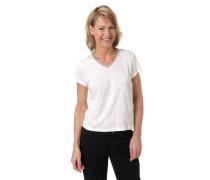 T-Shirt Flammgarn Glitzer-Detail Marken-Anhänger