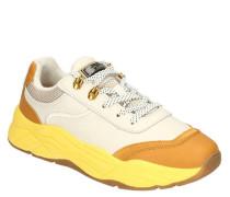 "XL-Sneaker ""Celest"" Leder Colour-Blocking Mesh-Details"