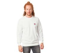 Sweatshirt reine Baumwolle Logo-Patch Rippbündchen