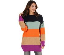 Pullover, langer Schnitt, Colour-Blocking,
