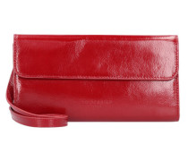 Glossy Samantha Clutch Tasche Leder  cm dahlia