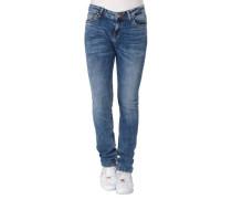 Jeans, Regular Fit, Falten-Optik, Waschung, für Damen