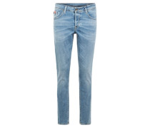 "Jeans ""Savio"", Slim Fit, Used-Optik, Knopfleiste,"