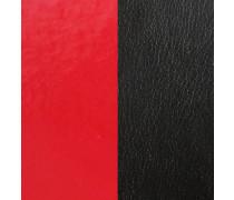 """Lederband """"Rot/Schwarz"""" 14mm"""