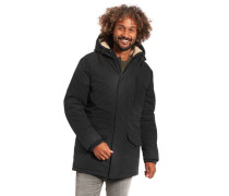 Klassische Jacke, Kapuze, diverse Taschen, wärmend, unifarben