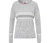 Pullover mit Jacquard-Print, hell/