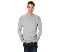 Sweatshirt Melange 3D-Print Baumwoll-Mix