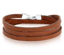 Armband Basic Echtleder Wickelarmband 5 Sterling Silber
